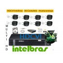 Kit Intelbras 8 Cam MultiHD Vhd 1010B G4 + Dvr 8ch Mhdx 1008 MultiHD +  hd 1 Tera