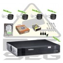 Kit 4 Cam Hdcvi Intelbras Dvr 4ch Hdvci Intelbras E Hd 500g