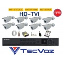 Kit 8 Camera Infra 30mt Full HD 1080P Hdtvi + Dvr 8ch Hdtvi Full Hd TECVOZ