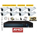 Kit 8 Cam Ahd 720p + Dvr 8 Canais Tribido C/ Hd 1tb
