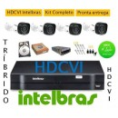 Kit Intelbras 4 Cam Hdcvi Dvr 4ch Hdvci Tribrido Hd 500giga