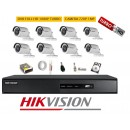 Kit 8 Cam Hikvision 720p + Dvr 8ch Hikvision Full Hd Turbohd