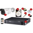 Kit 4 cameras Full HD 1080p Flex + Dvr 4ch mhdx 1004 Intelbras + hd 500g