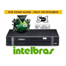 Kit 3 Cam AHD Bullet infra 30 mts + Dvr 4ch Hdcvi 1004 Multihd G3 Intelbras C/ Hd 500gb