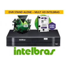 Dvr Stand Alone 4 ch MULTI HD Intelbras MHDX 1004c/ HD 1 TERA PURPLE Intelbras