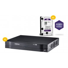 Dvr Stand Alone 4ch Multi Hd mhdx 1004 Intelbras c/ HD 1 tera WD Purple